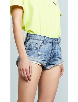 Original Blue Bandits Denim Shorts by One Teaspoon