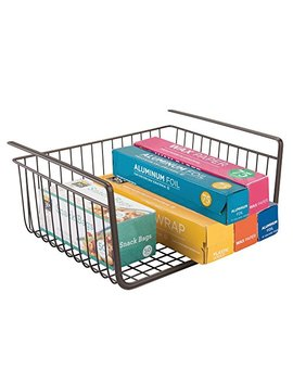 Inter Design York Metal Under Shelf Basket Storage Organizer For Kitchen, Bathroom, Office, Bronze by Inter Design