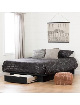 South Shore Full/Queen Holland Platform Bed With Drawer, Multiple Finishes by South Shore