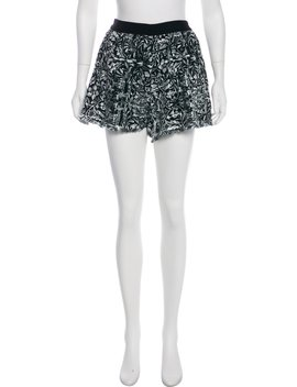 Cc Print Mid Rise Shorts by Chanel
