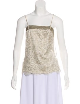 Sleeveless Lace Top by Chanel
