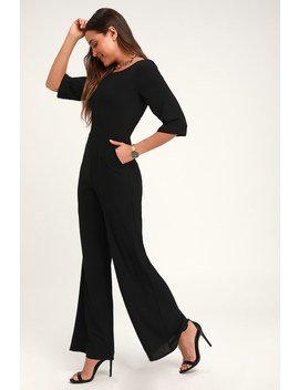 Glam Squad Black Wide Leg Jumpsuit by Lulus