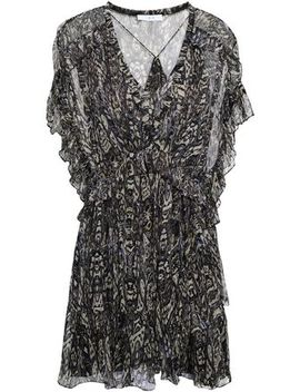 Gilio Ruffled Printed Georgette Mini Dress by Iro