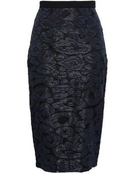 Fil Coupé And Crepe Pencil Skirt by Roland Mouret