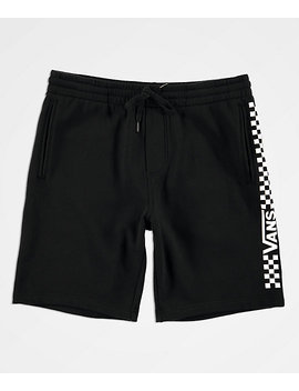 Vans Side Check Black Fleece Sweat Shorts by Vans