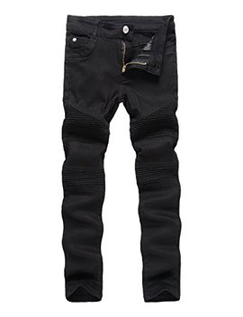 Boy's Khaki Biker Moto Ripped Distressed Fashion Skinny Slim Fit Jeans by Ia Rod Ca