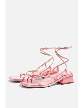 Nova Pink Strappy Sandals by Topshop