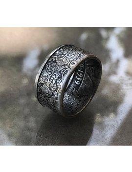 "Alphonse Mucha Silver Ring ""Rose"" by Etsy"