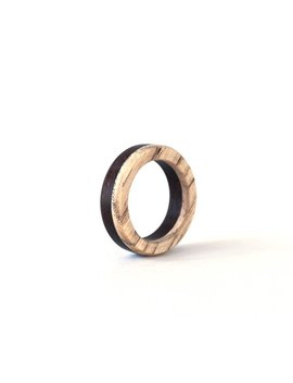Wooden Band, Men Wedding Band, Fraxinus Wood Ring, Wooden Wedding Jewelry, Natural Jewelry, Gift For Her, Wood Ring, Black & White Ring by Etsy