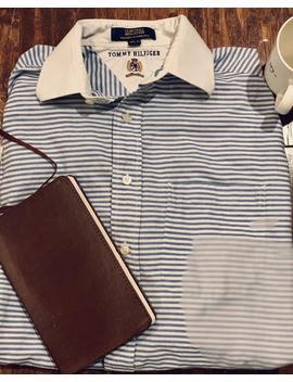Vintage Tommy Hilfiger Club Twill Button Down Dress Shirt by Etsy
