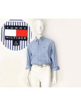 "<Span Data Preview Title="""">The Tommy Hilfiger Freshmen Class Vintage 90s Oxford Shirt Blue Cotton Ls Button...</Span>          <Span Data Full Title="""" Aria Hidden=""True"" Class=""Display None"">The Tommy Hilfiger Freshmen Class Vintage 90s Oxford Shirt ... by Etsy"