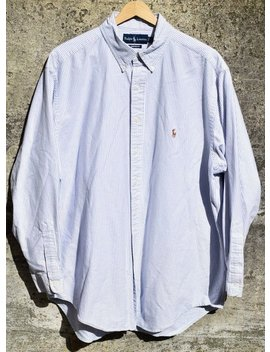 Ralph Lauren Polo Sport Button Up Shirt Yarmouth 17 34 Oxford Vintage 90s 92 L by Etsy
