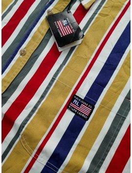 Sale!! Rare!!! Vintage Ralph Lauren Colour Block Button Down Shirt Size Large by Etsy