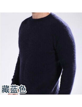 New Men's Crewneck / V Neck Pullovers Sweater 100 Percents Mink Cashmere Sweaters by Unbranded