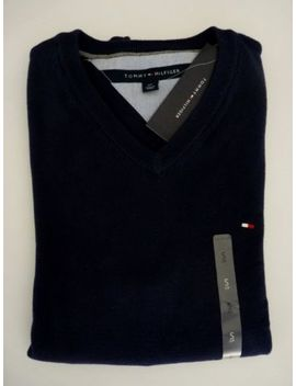 Nwt Tommy Hilfiger V Neck Sweater For Man Solid Multi Color S M L Xl 2 Xl by Tommy Hilfiger