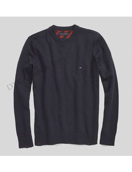 Tommy Hilfiger Men Solid Crew Neck Sweater Classic Fit   Free $0 Shipping by Tommy Hilfiger