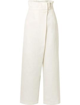 Nikko Wrap Effect High Rise Wide Leg Pants by Mara Hoffman