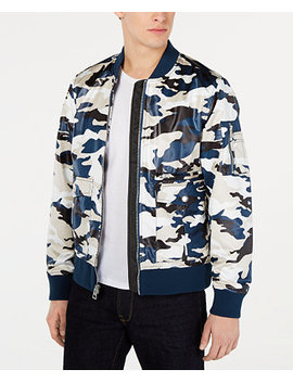 Men's Camo Bomber Jacket by Guess