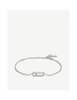 Move Uno 18ct White Gold And Pavé Diamond Bracelet by Messika