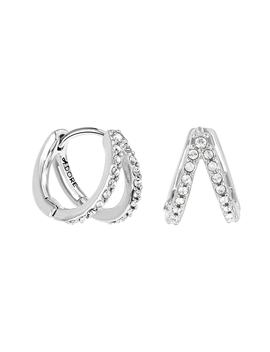 Pavé Crystal Double Hoop Earrings by Adore