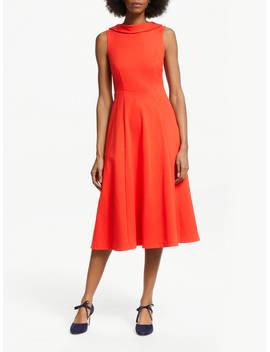 Boden Aria Ponte Midi Dress, Red Pop by Boden