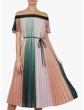 Ted Baker Fernee Colour Block Pleated Maxi Dress, Multi by Ted Baker