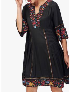 Brora Embroidered Folk Dress, Black by Brora