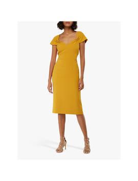 Monsoon Sabrina Cap Sleeve Shift Dress, Yellow by Monsoon