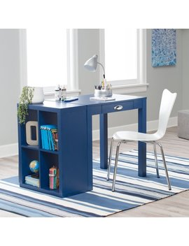 Classic Playtime Mini Writing Desk With Optional Bookcase   Navy by Classic Playtime