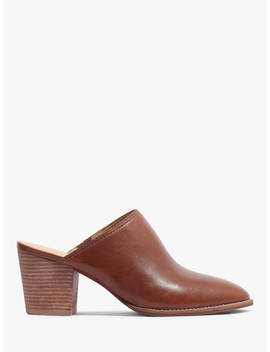 Madewell Harper Block Heel Mule Court Shoes, English Saddle Leather by Madewell