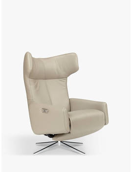 John Lewis & Partners Dane Electric Recliner Armchair, Metal Leg, Royal Taupe Leather by John Lewis & Partners