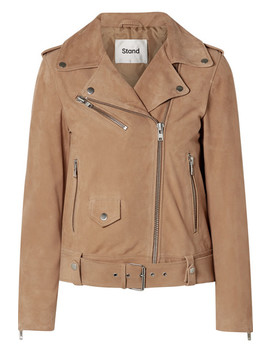 Polly Suede Biker Jacket by Stand