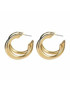Hoop Earrings Silver Gold Loop Earrings Trendy Unique Earrings For Women by Pop Dazzle