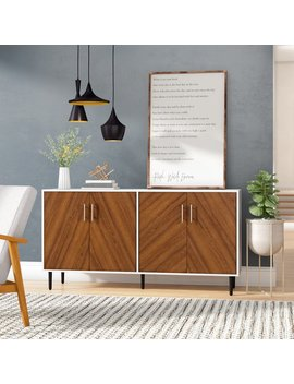 Keiko Modern Bookmatch Buffet Table by Turn On The Brights