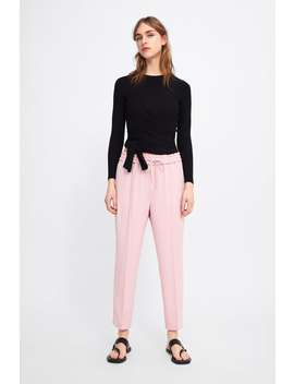 Elastic Waist Pants  Joggers Pants Woman by Zara