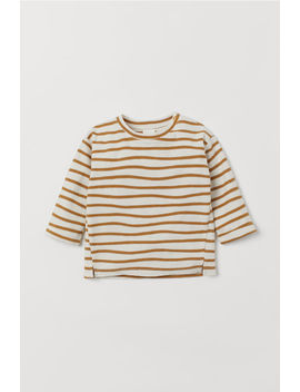 Striped Cotton Jersey Top by H&M