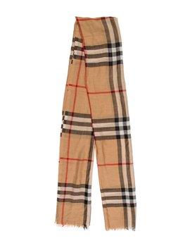 Wool & Silk Nova Check Scarf by Burberry