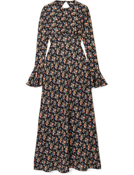 open-back-floral-print-silk-crepe-de-chine-maxi-dress by les-rêveries