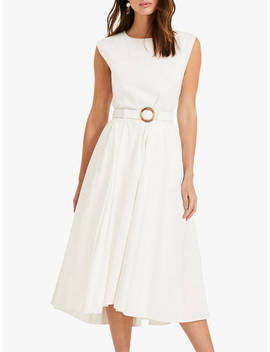 Phase Eight Mariella Cotton Blend Dress, Ivory by Phase Eight