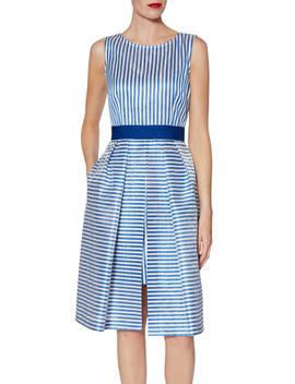 Gina Bacconi Elena Stripe Dress, Blue by Gina Bacconi