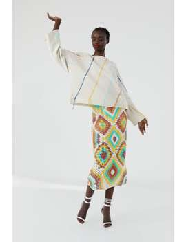 Embroidered Knit Sweatshirt With Fringing  Collection The Summer Dress Stories Woman by Zara