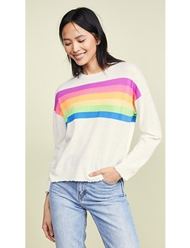 Rainbow Stripes Crew Neck Sweater by Sundry