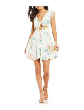 Floral Tie Front Dress by Gb