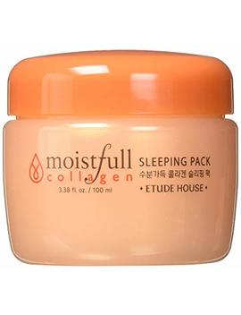 Etude House Moistfull Collagen Sleeping Pack 3.38 Fl. Oz. (100ml)   Skin Moisturizing & Refreshing With Moist Plump Gel, Super Collagen Water & Bobab Water Makes... by Etude House