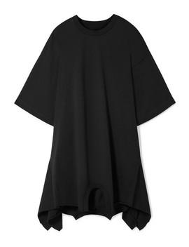 mini-robe-asymétrique-oversize-en-jersey-de-coton by mm6-maison-margiela