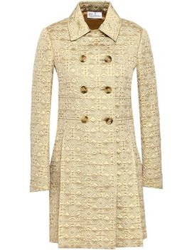 Metallic Jacquard Trench Coat by Red Valentino