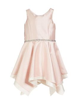 Sleeveless Handkerchief Dress With Crystal Belt, Size 4 6 X by Zoe