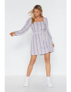 stripe-on-schedule-square-neck-mini-dress by nasty-gal