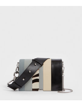Captain Leather Multi Flap Shoulder Bag by Allsaints