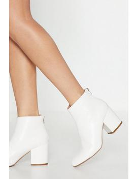Stand By Me Faux Leather Ankle Boots by Nasty Gal